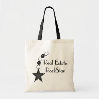 Real Estate Rock Star Tote Bags