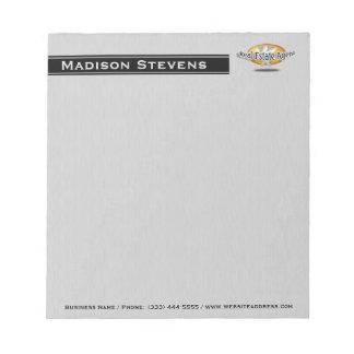 Real Estate Silver Key Logo Notepad