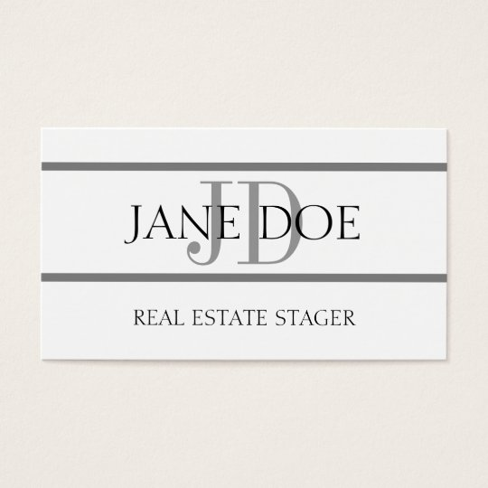 Real Estate Stager Stripe White Business Card
