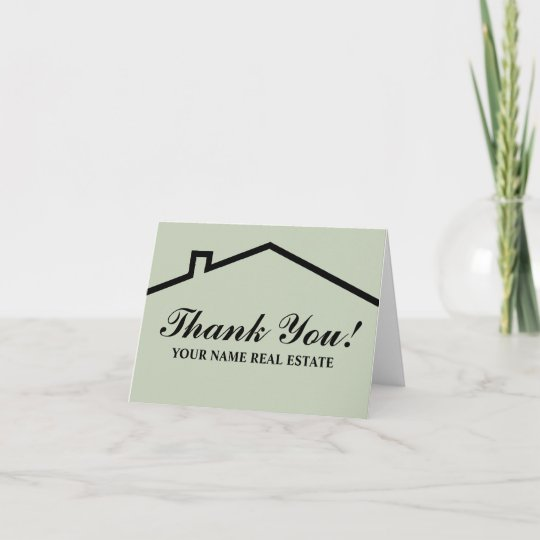 Real Estate Thank You Note Cards For Business Zazzle