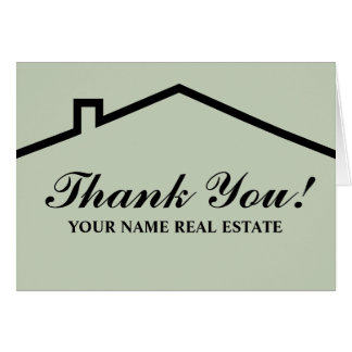 Real Estate Thank You Note Cards | Zazzle