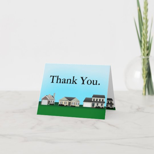real estate thank you notes - Real Estate Thank You Notes Card