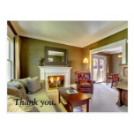 Real Estate thank you postal card. Postcard