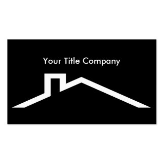 Real Estate Title Business Cards