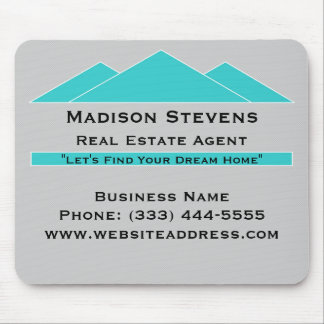 Real Estate Turquoise Rooftops Mouse Pad