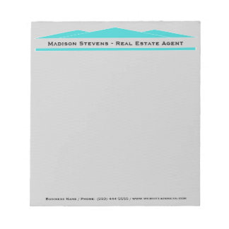 Real Estate Turquoise Rooftops Notepad
