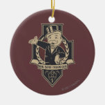 Real Estate Tycoon Club Double-Sided Ceramic Round Christmas Ornament