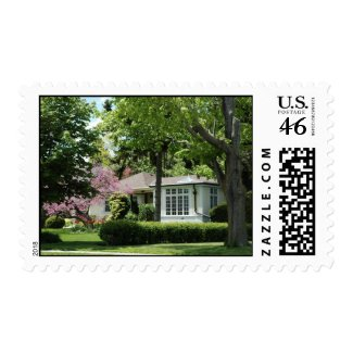 Real Estate Yellow House Stamp stamp