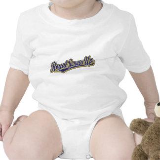 Real estropee el logotipo de la escritura en azul trajes de bebé
