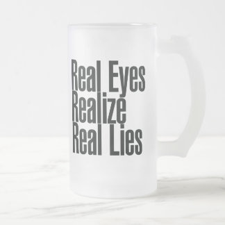 Real Eyes Realize Real Eyes Frosted Glass Beer Mug