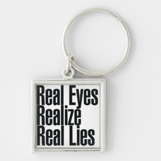 Real Eyes Realize Real Eyes Silver-Colored Square Keychain