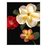 Real fake flowers personalized letterhead