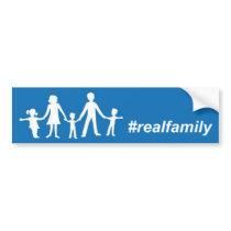 Real Family Flag Bumper Sticker, Straight Pride Bumper Sticker