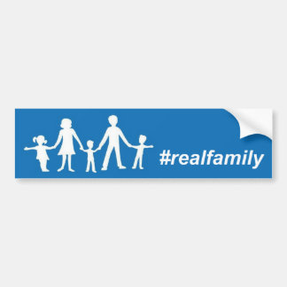 Real Family Flag Bumper Sticker, Straight Pride Bumper Sticker