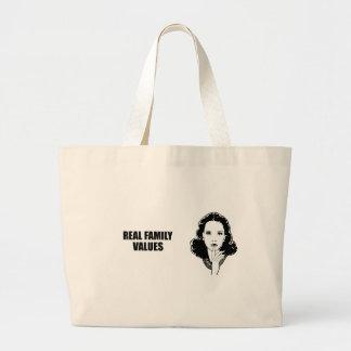 Real Family Values Jumbo Tote Bag