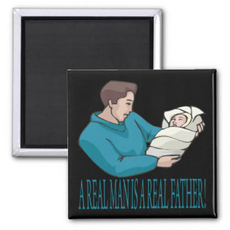 Real Father 2 Inch Square Magnet