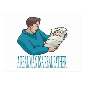 Real Father Postcard