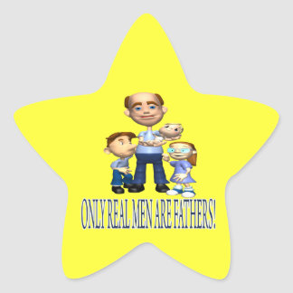 Real Father Star Sticker
