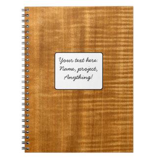 Real Figured Douka Veneer Woodgrain Notebook