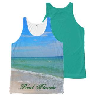 Real Florida Beach Tank All-Over Print Tank Top