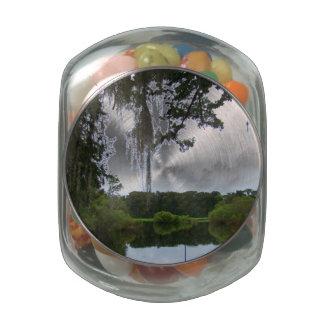 Real Florida Glass Candy Jar