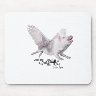 Real Flying Pig Popular Gift When Pigs Fly w Wings Mousepad