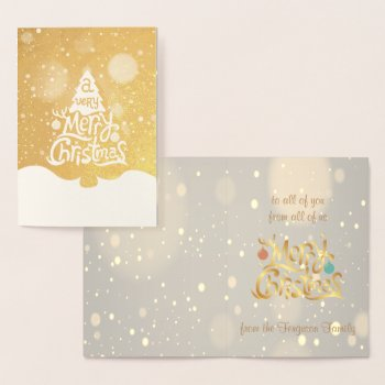 Real Foil A Very Merry Christmas Tree Greeting Foil Card