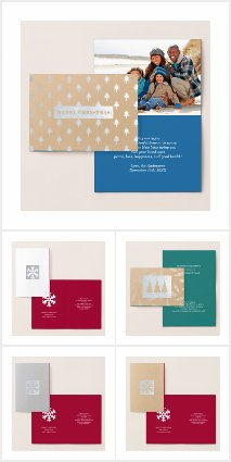 REAL FOIL corporate CHRISTMAS HOLIDAY CARDS 2018
