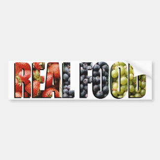 Real Food Car Bumper Sticker