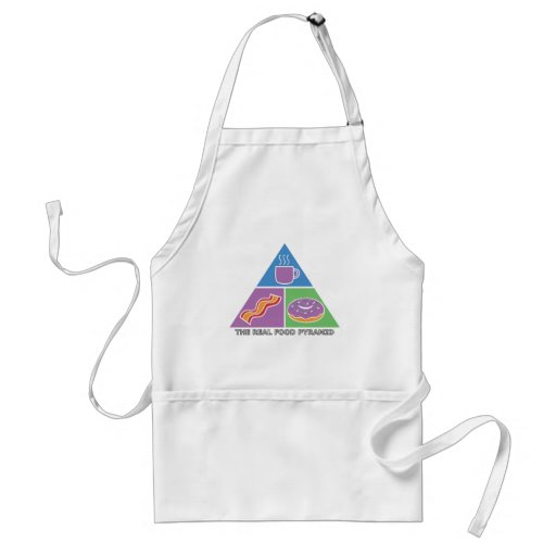 Real Food Pyramid - Coffee, Bacon, Donuts Adult Apron