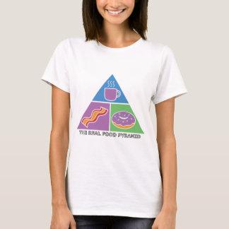 Real Food Pyramid - Coffee, Bacon, Donuts T-Shirt