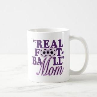 Real Football Mom (purple) Coffee Mugs