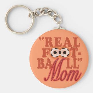 Real Football Mom (sunset) Key Chain