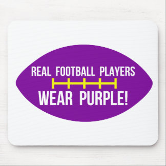 Real Football Players Wear Purple Mouse Pad