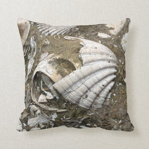 Real Fossil Image Pillow Throw Pillow