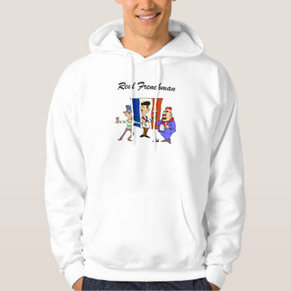 Real Frenchman French mens hooded sweatshirt