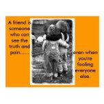 real_friends, A friend.. Postcard