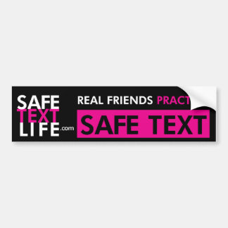 Real Friends Practice Safe Text 1 Bumper Stickers