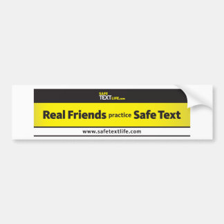Real Friends Practice Safe Text 3 Bumper Stickers
