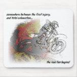 Real Fun Dirt Bike Motocross Mousepad Mouse Pad