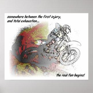 Real Fun Dirt Bike Motocross Print Poster Sign