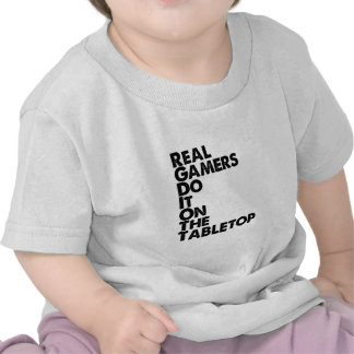 Real Gamers black T-shirts