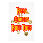 Real Gamers Roll Dice Stationery