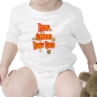 Real Gamers Roll Dice Tshirt