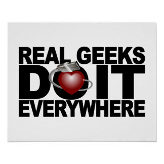 Real Geeks poster - customize