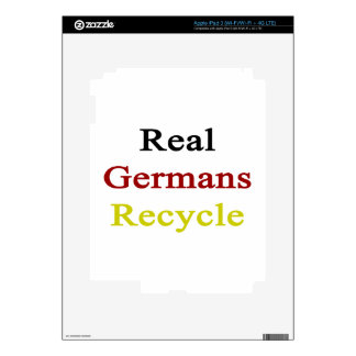 Real Germans Recycle iPad 3 Decal