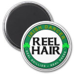 Real Ghillies, Real Dress, REEL HAIR 2 Inch Round Magnet