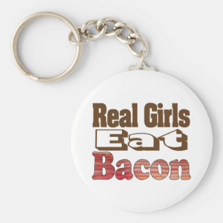 Real Girls Eat Bacon Basic Round Button Keychain