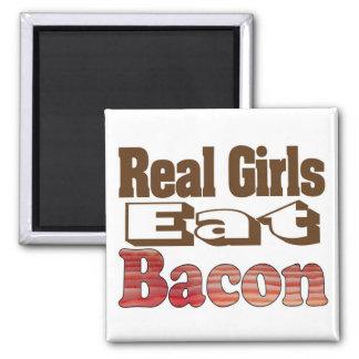 Real Girls Eat Bacon Refrigerator Magnet