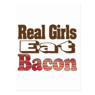 Real Girls Eat Bacon Postcard